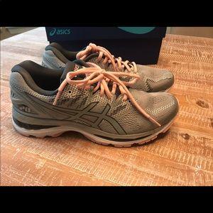 ASICS Gel Nimbus 20 Women's Shoes Mid Grey/Pink